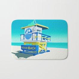 Miami Beach Hut Bath Mat