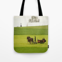Young Amish Farmer Tote Bag