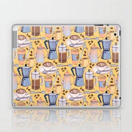 Coffee Love on Yellow Laptop & iPad Skin