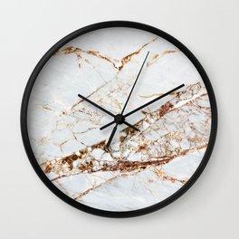 Manhattan Gold Marble Stone Wall Clock