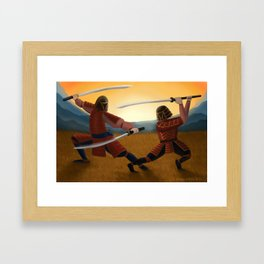 Sundown Samurai Framed Art Print