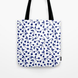 Cerise, Blue Tote Bag