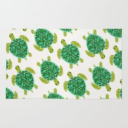 Sea Turtle – Green Palette Rug
