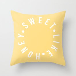 sweet like honey Throw Pillow