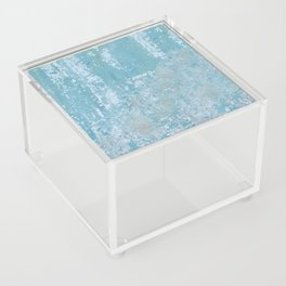 Vintage Galvanized Metal Acrylic Box