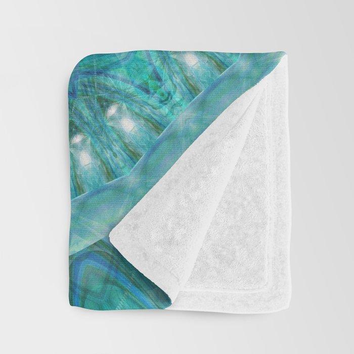 Mandala luminous Opal Throw Blanket