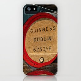 Guinness beer barrel - great man cave art! iPhone Case