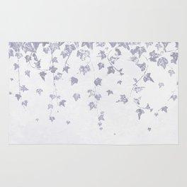 Soft Purple Trailing Ivy Leaf Print Rug