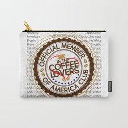 Coffee Lovers of America Club by Jeronimo Rubio 2016 Carry-All Pouch