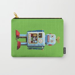 Retro Tin Toy Robot Polygon Art Carry-All Pouch