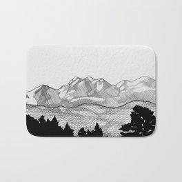 Colorado Mountains Bath Mat