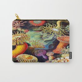 Under the Sea : Sea Anemones (Actiniae) by Ernst Haeckel Carry-All Pouch