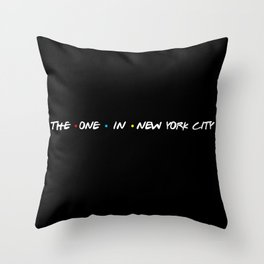 the one in new york city Throw Pillow