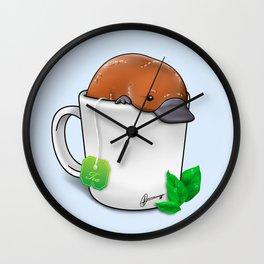 Pla-TEA-pus Wall Clock