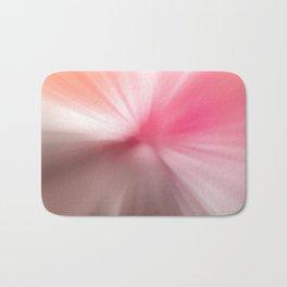 Peach Pink Blurr Abstract Design Bath Mat