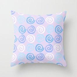 Lavender white blue violet aqua geometrical swirls pattern Throw Pillow