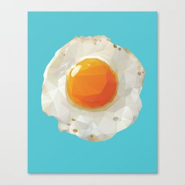 Fried Egg Polygon Art Canvas Print