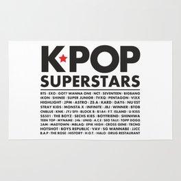 KPOP Superstars Original Boy Groups Merchandse Rug