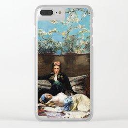 Oriental Lovers Clear iPhone Case