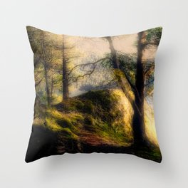 Misty Solitude, The Way Through The Woods Throw Pillow