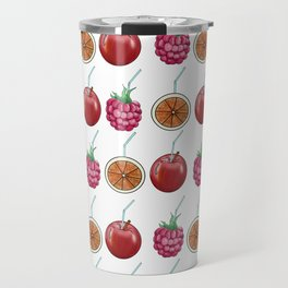 fresh fruits and cocktail rolls Travel Mug