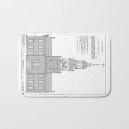 Independence Hall Blueprint Schematics Bath Mat