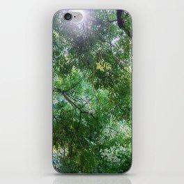 green light iPhone Skin