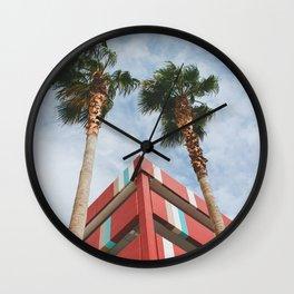 Las Vegas Palm Trees and Vintage Design Wall Clock