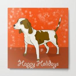 Happy Puppy Holidays! Metal Print