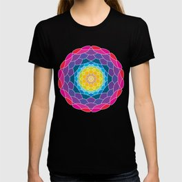 floral ornament. circular pattern T-shirt