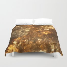 Fractal Art - Gold mine Duvet Cover