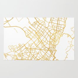 BOGOTA COLOMBIA CITY STREET MAP ART Rug