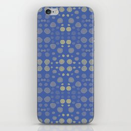 Dots, dots and more dots - blue & yellow iPhone Skin
