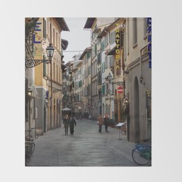 Via Faenza - Florence, Italy Throw Blanket