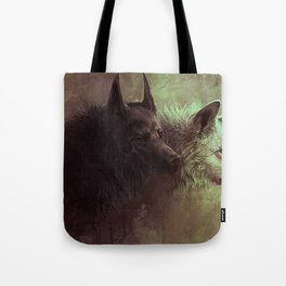 Wolfs Abstraction Tote Bag