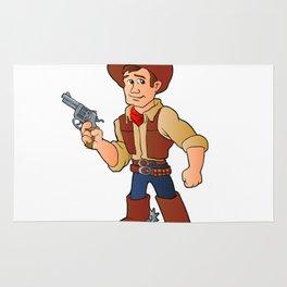cowboy with revolver Rug