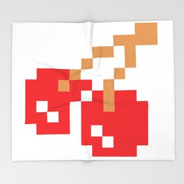 8-bit Cherry Throw Blanket