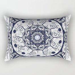 Hearts and Buddha Mandala Rectangular Pillow
