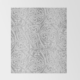 Celtic Warlord silver Throw Blanket