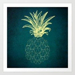 y-hello pineapple Art Print