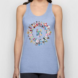 It's a Small World  Unisex Tank Top
