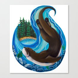 Brother Otter Canvas Print