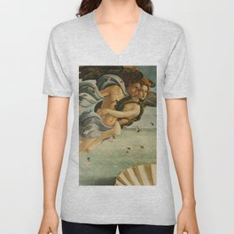 "Sandro Botticelli ""The Birth of Venus"" 3. Zephyr and his companion Unisex V-Neck"