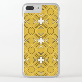 Ethnic pattern in yellow Clear iPhone Case