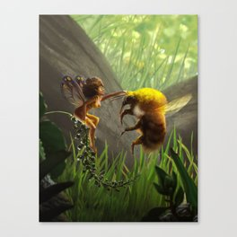 Faerie and Bee Canvas Print
