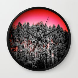 Gray Trees Candy Apple red Sky Wall Clock