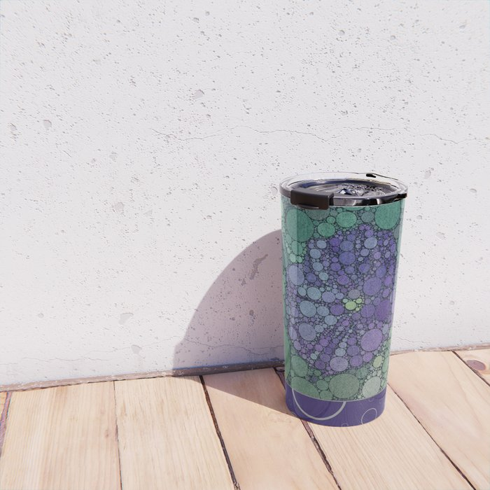 Percolated Purple Potato Flower Reboot  Travel Mug