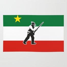 Patriote Flag with patriot Lower Canada Rebellion Quebec Rug