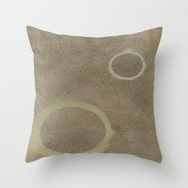 Two Circles - Modern Art - Abstract - Fine Art - California Cool - Popular Painterly Throw Pillow