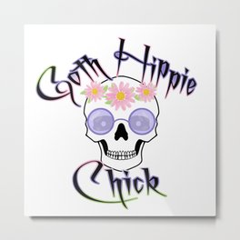 Goth Hippie Chick Metal Print
